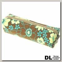Пенал Цветы коричн-беж-гол С-5510