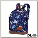 Мини рюкзак Asgard Р-5424 Единороги синий