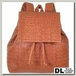 Женский мини рюкзак Asgard Р-5280 Крокодил Теракотовый