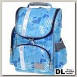 Школьный рюкзак Asgard Р-2401 Сердца голубые-синие С