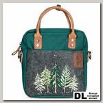 Рождественская маленькая сумка Ginger Bird изумрудный