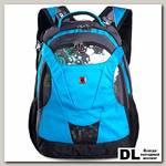 Рюкзак Swisswin Graffity SW-8570 голубой