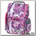 Школьный рюкзак Asgard Р-2401 Сердца фиолетово-малиновые С