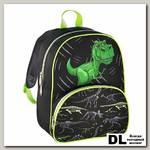 Детский рюкзак Hama Dino (черный/зеленый)
