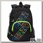Рюкзак Grizzly RU-136-2 черный - салатовый