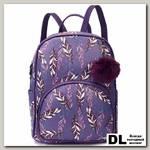 Рюкзак OrsOro DW-835 Перья на фиолетовом