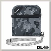 Кошелек Pacsafe RFIDsafe V100 Серый камуфляж