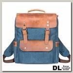 Рюкзак Ginger Bird Грог 15 с карманами синий (лисы рыжие)