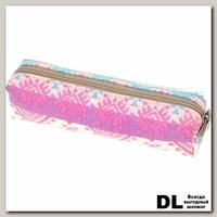 Пенал СкандиУзор розово-бирюзовый С-5510