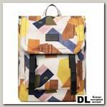 Рюкзак Mr. Ace Homme MR19C1784B01 Белый/Жёлтый/Коричневый