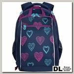 Рюкзак школьный с мешком Grizzly RG-064-11 Синий