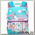 Школьный рюкзак Grizzly Paris Turquoise-Pink Ra-672-5