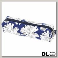 Пенал Хризантемы сине-белые С-5510