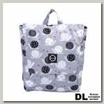 Рюкзак 8848 детский с принтом 'Улитки' Серый/Черный/Белый