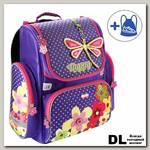 Ранец Mike&Mar 1074-MM-151 Цветы (фиолетовый/малиновый)
