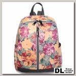 Женский кожаный рюкзак Orsoro d-442 цветы