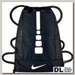 Баскетбольный рюкзак Men's Nike Hoops Elite Basketball Gym Sack Чёрный