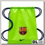 Мешок для обуви FC Barcelona Stadium Football Gym Sack Салатовая