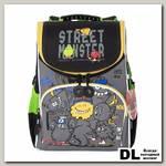 Рюкзак школьный с мешком Grizzly RA-972-5 Чёрный/Серый