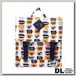 Рюкзак 8848 Fuzzy детский с принтом 'Чашки' Белый/Синий/Серый