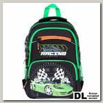 Школьный рюкзак Orange Bear V-54 Racing черный/салатовый
