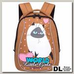 Детский рюкзак Grizzly Cute Cat Biege Rs-764-7
