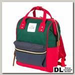 Рюкзак-сумка Polar 17198 зеленый/красный/синий