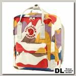 Рюкзак Fjallraven Kanken Art Mini Камуфляжный Красный/коричневый/жёлтый