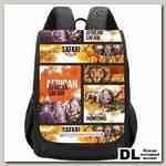 Рюкзак школьный Grizzly RAk-091-2 Чёрный
