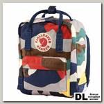Рюкзак Fjallraven Kanken Art Mini Камуфляжный Синий/серый/коричневый