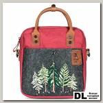 Рождественская маленькая сумка Ginger Bird бордовый