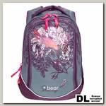 Школьный рюкзак Orange Bear V-62 Flowers фиолетовый