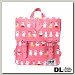 Рюкзак 8848 Fuzzy детский с принтом 'Мишки' Розовый/Белый/Красный