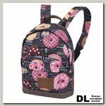 Детский рюкзак Asgard Р-5414 ПончикиГазета черный